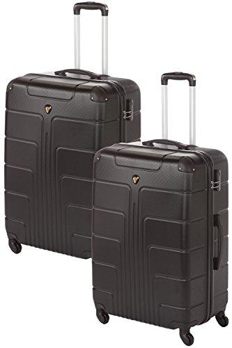 'Coque rigide Valises Couple Lot de 2 Pièces 2 x Taille XL Couleur, 75 cm, chaque 110 L de nombreuses couleurs Noir noir/noir 2x Gr. XL