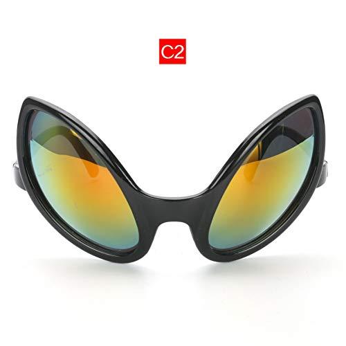 CCGKWW Brille Lustige Alien Eyes Sonnenbrille Männer Kostüm Maske Neuheit Brille Frauen Party Supplies (Alien Kostüm Weiblich)