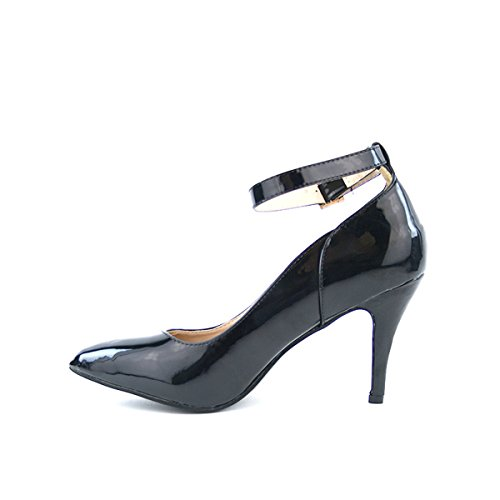Cendriyon, Escarpin Verni Noir JULIANNA Chaussures Femme Noir