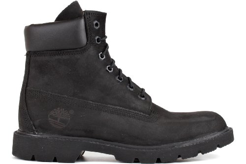 Timberland Mens 6-Inch Basic Waterproof Leather Boots Schwarz - Schwarz 5E0YSA