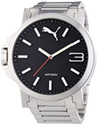 Puma Herren-Armbanduhr XL Ultrasize Analog Quarz Edelstahl PU103461003