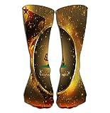 "GHEDPO Hohe Socken Women's Knee High Socks Athletic Socks 19.7""(50cm) California Admission Day Abstract"