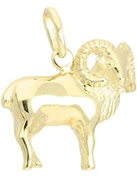 MyGold Sternzeichen Anhänger (Ohne Kette) Gelbgold 333 Gold (8 Karat) Massiv Glanz ca. 17mm x 20mm Goldanhänger...