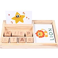 English Letters Puzzle Educational Toy Matching Alphabet Spelling Games Developmental Baby Toys Puzzle Building Blocks 2-3-6 Years Old