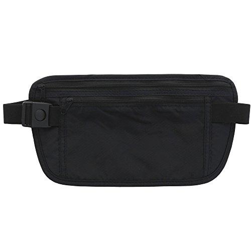 XiRRiX universal Travel Wallet - flache Reise Bauchtasche ideal für unter der Kleidung - für Wertsachen Geld Handy Reisepass Flugticket (Reisepass Case Flugtickets,)