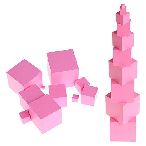 SimpleLife Forme Geometriche in Legno Forme 3D Montessori ressources di apprendimento per la Scuola Rosa