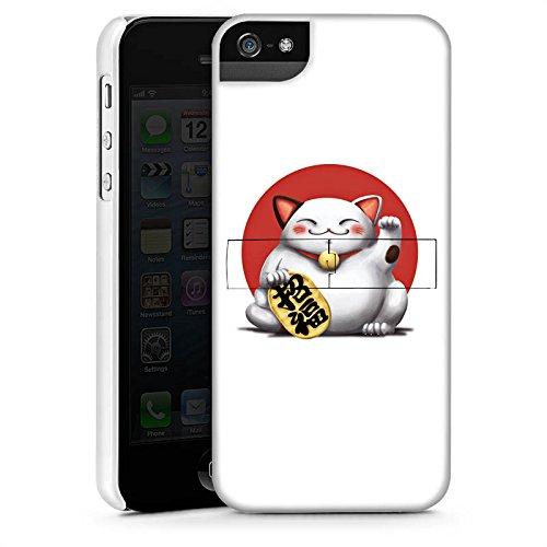 Apple iPhone 4 Housse Étui Silicone Coque Protection Kawaii Chat Japon CasStandup blanc