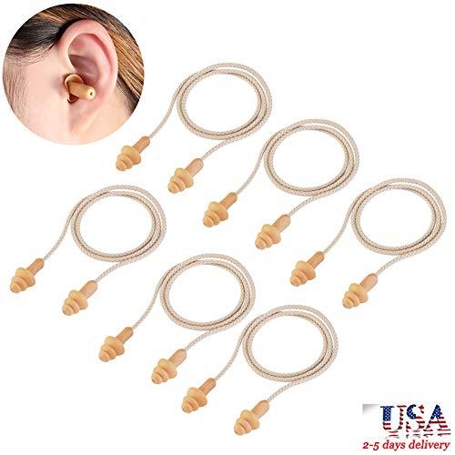 Winomo tappi auricolari 50 paia tappi per le orecchie morbide con cavo in silicone riutilizzabile per dormire udito protezione piscina