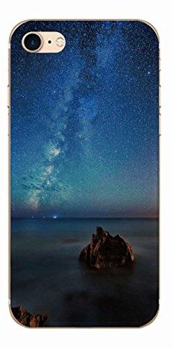 MPPK-Hamburg ® Apple iPhone ® 7 - 4,7 Zoll Schutz Hülle - Case in wunderschönem Design – Stabiles / transparentes PC - Pacific Surfing Wave Polarlichter Blau