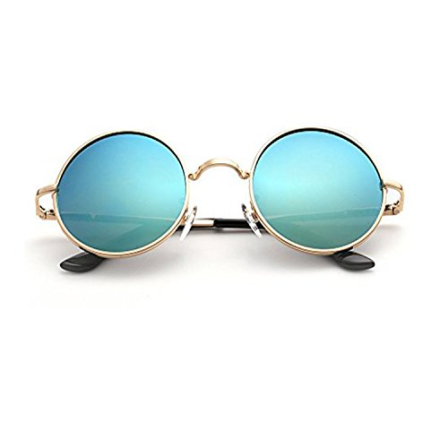 Styish & Classic UV Protected Non Polarized Vintage YS Aqua Blue Mercury Round Sun Glasses for Boys and Girls (Aqua-Blue-Round-Single)  available at amazon for Rs.349