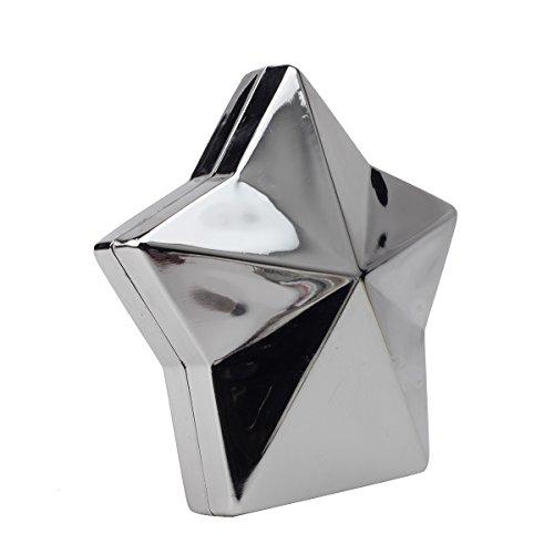 MOGOR, Poschette giorno donna nero Black medium Light Silver