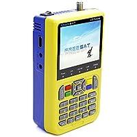 """Docooler FREE SAT V8 Finder Medidor de Señal Detector TV DVB-S / S2 HD Medidor Digital 3.5"""" LCD 3000mAh EU Enchufe"""