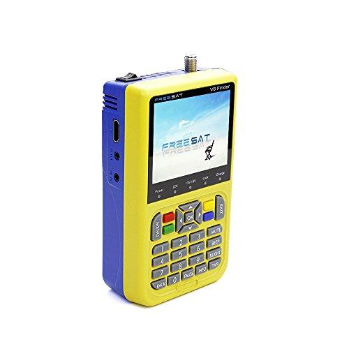 Docooler FREE SAT V8 Finder Medidor de Señal Detector TV DVB S / S2 HD Medidor Digital 3.5