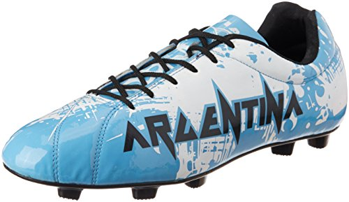 Nivia Destroyer Argentina Football Shoes, UK 11 (Sky Blue)