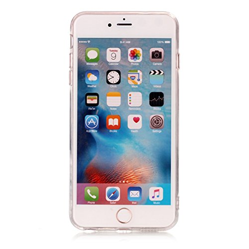 Cover iPhone 6 Plus,Custodia iPhone 6S Plus plus,TXLING Paesaggio Scenario Creativa Cover Ultra sottile Silicone Morbido Flessibile TPU Gel Protettivo Skin Caso Custodia Protettiva Shell Case Cover Pe Bianco grigio