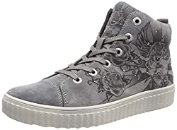 Lurchi Mädchen NAZOU Hohe Sneaker, Weiß (Grey 25), 32 EU