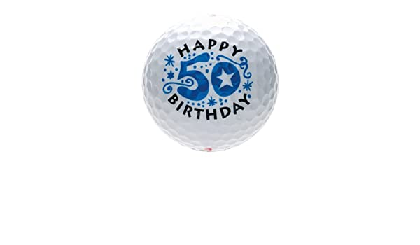 B9937, 50th birthday, happy birthday, golfball/golf/golfgame