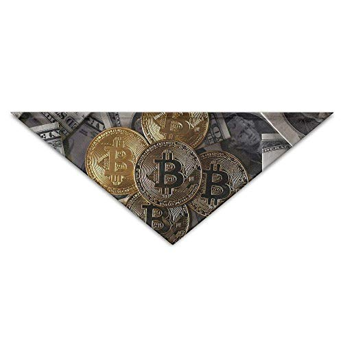 Gxdchfj Dollar Currency and Bitcoin Turban Triangle Scarf Bib Scarf Accessories Pet Cat and Baby Puppy Saliva Dog - 15 Dollar Kostüm