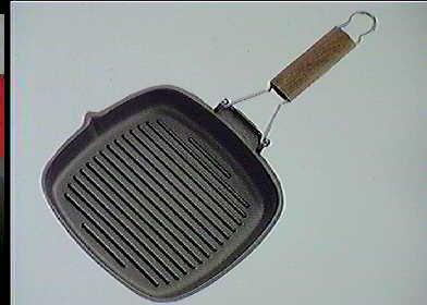 Risoli saporella Poêle grill antiadhésive, aluminium, noir, 20 x 20 x 5 cm