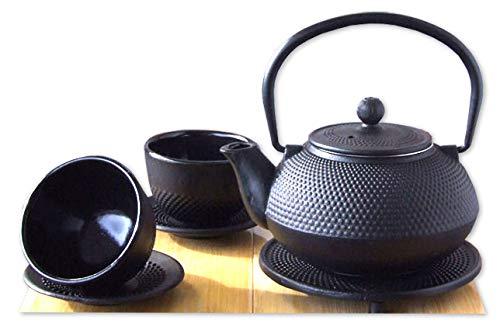 Gifts Of The Orient - Juego de té (hierro fundido, 0,6 l), diseño japonés, color negro