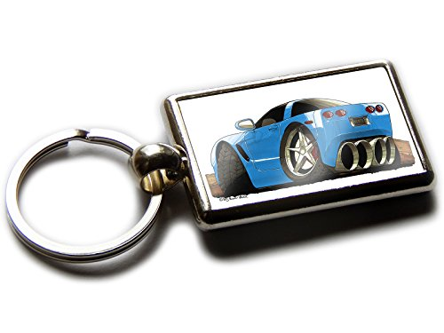 chevrolet-corvette-sports-auto-offizieller-koolart-qualitt-chrom-schlsselanhnger-bild-beiden-seiten-