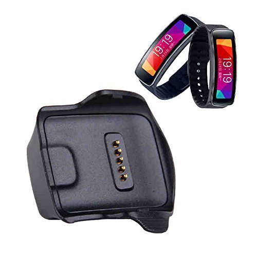 Seeme ' Charger Cradle Charging Dock Desktop for Samsung Gear Fit R350 Smart Watch Black (Samsung Galaxy Gear R350)