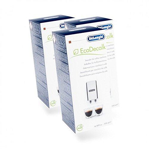 DeLonghi SER 3018 EcoDecalk Lot de 3 bouteilles d'anti-calcaire pour cafetière