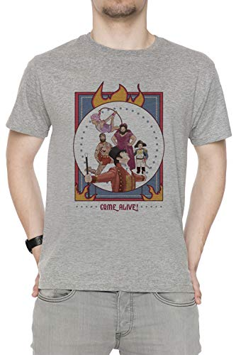 st Showman Herren T-Shirt Rundhals Grau Kurzarm Größe M Men's Grey Medium Size M ()