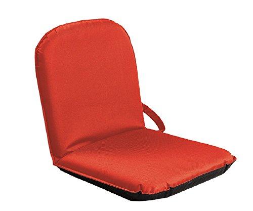 SITZFIX, Bodensitzkissen, Bodenstuhl Outdoor mit verstellbarer Rückenlehne rot (Sitzkissen Und Rückenlehne)
