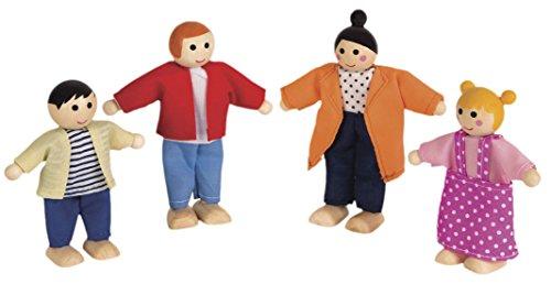Preisvergleich Produktbild Janod Holzspielzeug - Puppenhaus Figurenset Familie 4 Stück Mademoiselle, Mehrfarbig