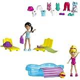 Mattel Polly Pocket W6307 - Badespaß Set, 2 Puppen und viel Zubehör