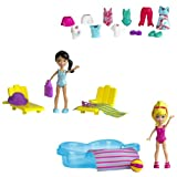 Polly Pocket - W6307 - Poupée et Mini-Poupée - Piscine - 2 Figures