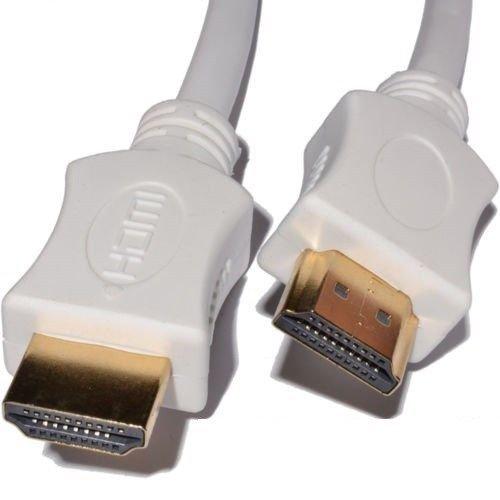 Blanco HDMI a HDMI cable cable oro conector rápido 1,4versión conectores de...