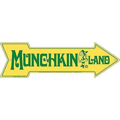 (Schilder 4Fun Munchkin Land, Pfeil Schild)