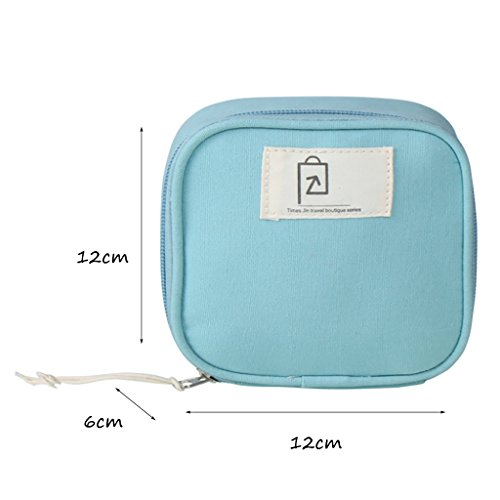 CLOTHES- Piccolo sacchetto cosmetico del sacchetto di rossetto del cotone fresco Sacchetto di caramella stereo della cinghia di dati di viaggio ( Colore : Rosa ) Cielo Blu