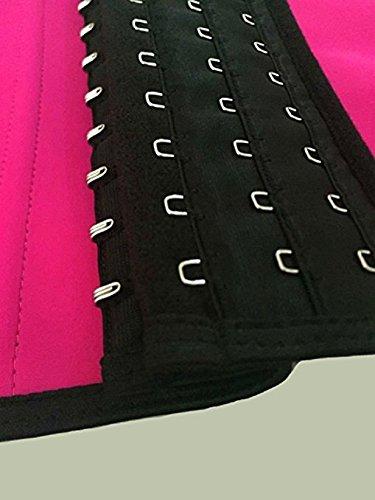 Fortuning's JDS Slimming lattice vita Trainer Corsetto Tummy controllo Shapewear corpo per le donne Rosa