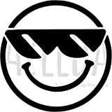 Groß A2 'Cool Smiley' Wandschablone / Vorlage (WS00031925)