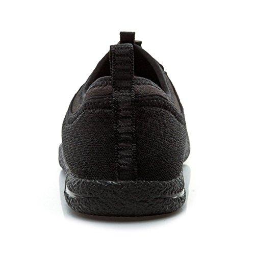 XIANG GUAN Outdoor Chaussures Baskets Course Empeigne en Mesh Respirante et Légère Engrener Sneaker Mixte Adulte Noir