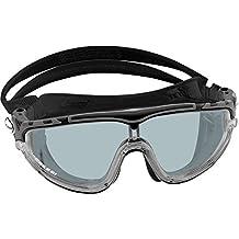 Cressi Skylight Premium Gafas de Natación Anti Empañante y Anti UV - Multicolores - Negro/Gris Lentes Ahumadas