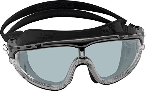 Cressi Skylight Occhialini Monovento da Nuoto, Unisex Adulto, Lenti a Specchio, Nero