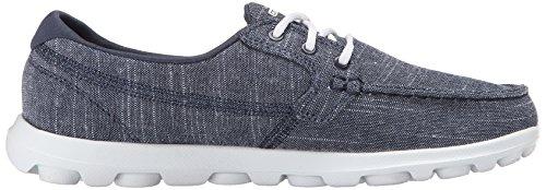 Skechers On-the-Go-Mist, Chaussures de Sport Femme, Talla Azul (Nvw)