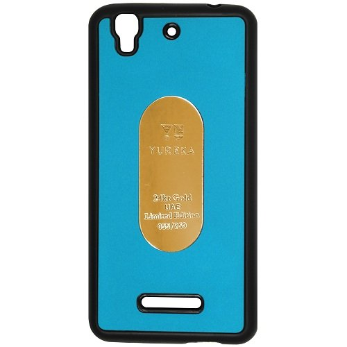 Casotec Metal Back TPU Back Case Cover for Micromax YU Yureka AQ5510 / AO5510 - Sky Blue  available at amazon for Rs.119
