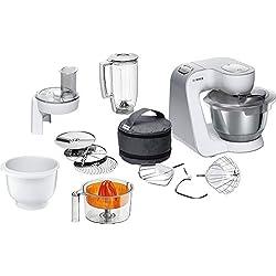 Bosch MUM58243 Robot de Cuisine 1000 W, 3,9 L, Blanc/Argent