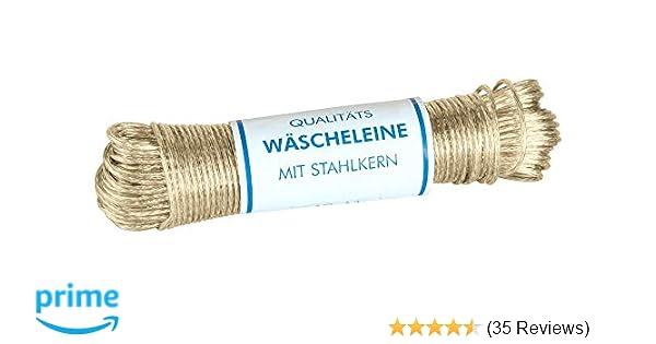 besonders solide und extra lang LaundrySpecialist/® W/ÄSCHELEINE 50 Meter mit Stahlkern