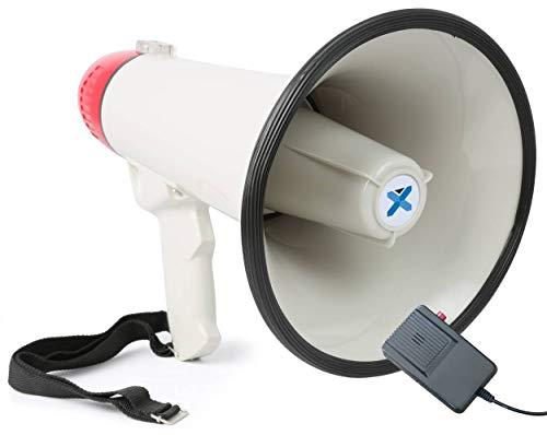 Scopri offerta per Vexus MEG040 Megafono a batteria con funzione registrazione, sirena, cinghia e microfono (40 Watt, raggio 1 KM, microfono rimovibile, leggero)