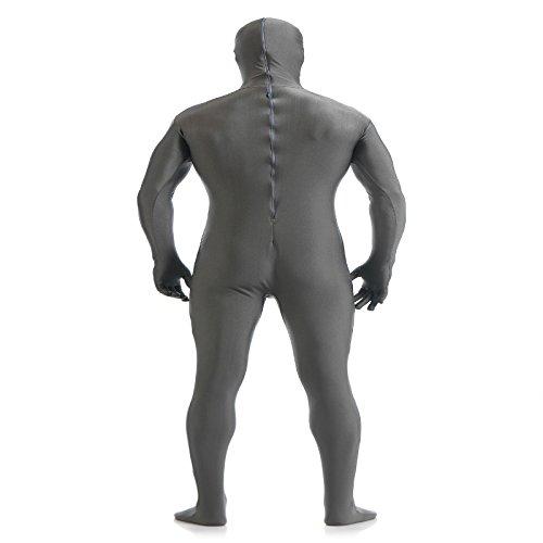 Blesiya Abiti Spandex Stretto Cosplay Costume Vestiti per Unisex Grigio scuro