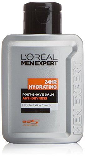 L'Oreal Men Expert, Balsamo dopobarba idratante 24 h, per pelli sensibili, 100 ml
