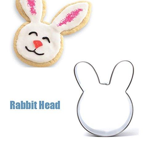 Bluelover Kaninchen-Kopf-Form Edelstahl Ausstecher Kuchenbackform