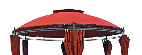 Haushalt International Ersatzdach für Pavillon 62342 Terrakotta -