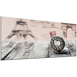 decorwelt | Couvre-plaques de Cuisson en Verre pour plaques de Cuisson 90 x 52 cm 1 cœur Noir Revêtement en céramique Universel Protection Contre Les éclaboussures en Verre pour plaques de Cuisson